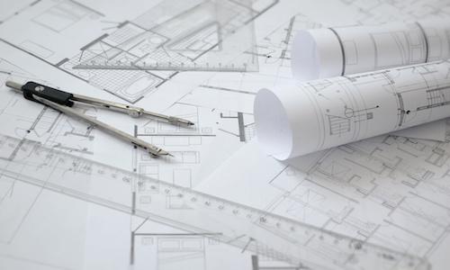 Bauplne / Architektur Hintergrund